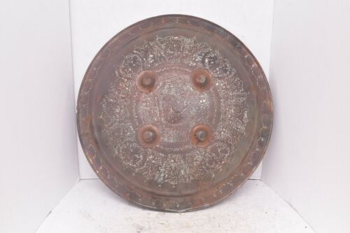 """antique Mughal or India Indo Islamic Vintage Dhal Shield weapon armor 19"""".."""