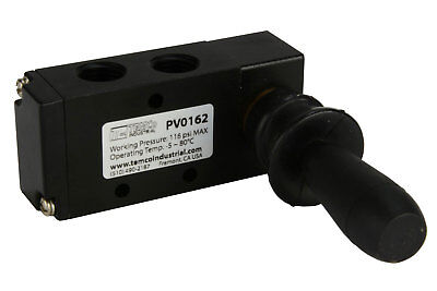 Spring Return Lever Pneumatic Air Control Valve 5 Port 4 Way 2 Position 14 Npt