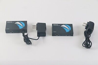 Used, Movcle 1x4 HDMI Splitter With Power Adapters Lot of 2 for sale  Shipping to India