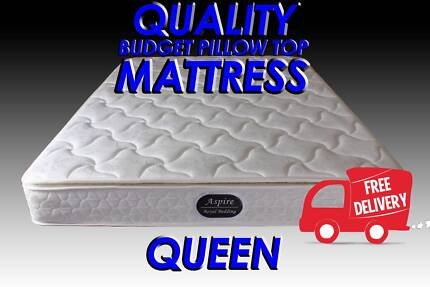 FREE DELIVERY QUEEN Size Pillow Top Mattress NEW
