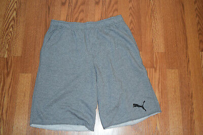 NWT Mens PUMA Gray French Terry Active Athletic Shorts Size XXL