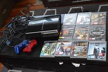 SONY PS3 (CONSOLE WITH 2 CONTROLLERS , HEAD PHONES, CO10 GAMES CD Inala Brisbane South West Preview