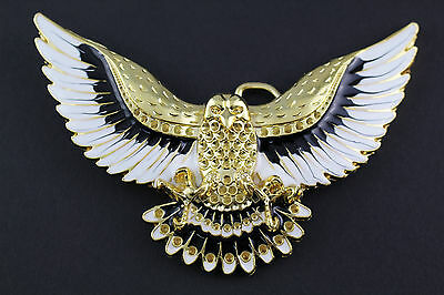 GOLDEN FLYING EAGLE BELT BUCKLE METAL WESTERN COUNTRY AMERICAN