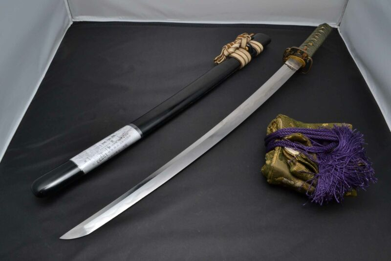 Wakizashi Japanese antique sword Korekazu Fujiwara middle Edo 300 years Koshirae