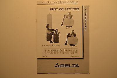 J112 Original Delta Dust Collectors Instruction Manual 1987