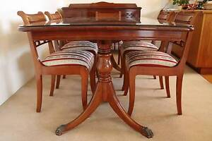 Handcrafted 1940s Dining Table w/ 6 Chairs Abbotsford Canada Bay Area Preview