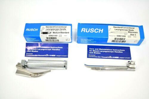 Laryngoscope Rusch Lighted with 1 Macintosh Blade and 1 Wisconsin Blade Size