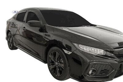 01-05 Tinted Front Rear 4pc Set Heko Wind Deflectors for Honda Civic 5 Doors