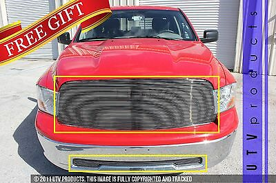 GTG 2009 - 2012 Dodge Ram 1500 2PC Polished Replacement Billet Grille Grill Kit