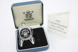 1991-de-plata-prueba-una-libra-funda-Certificado-de-autenticidad-Lino-Planta