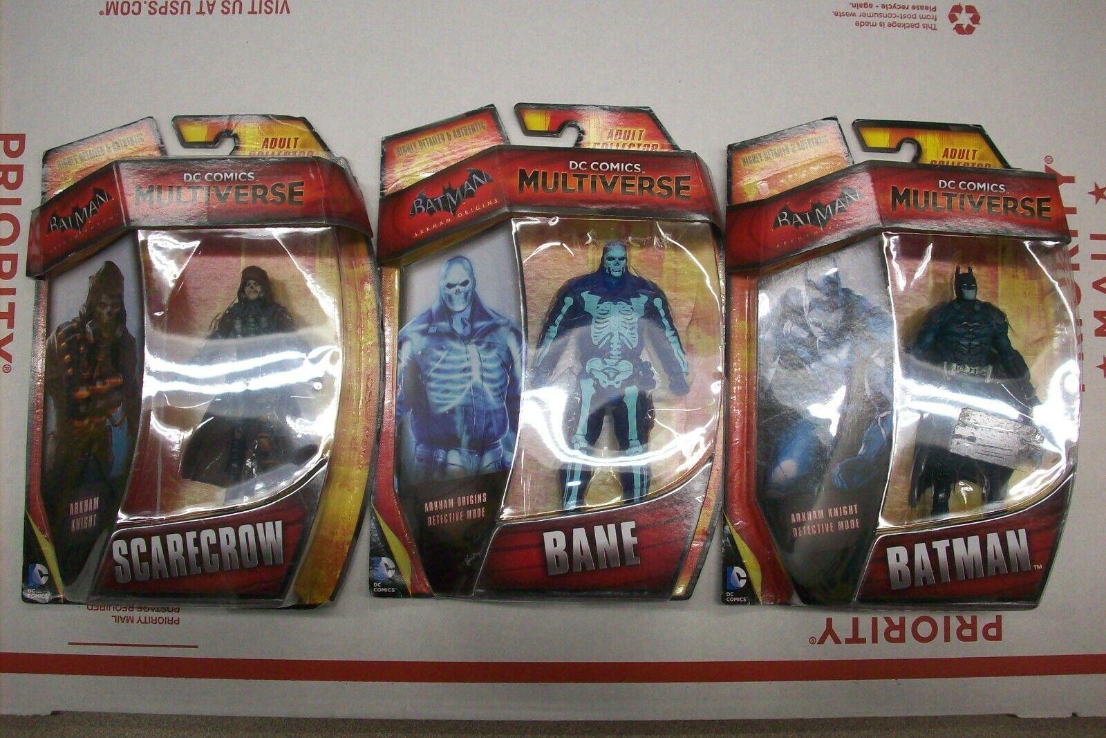 """DC Comic Multiverse 4"""" Arkham Knight Detective Batman Action"""