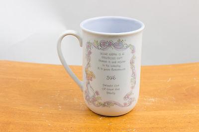Precious Moments Name Mug Cup 1989 - Poem - Sue