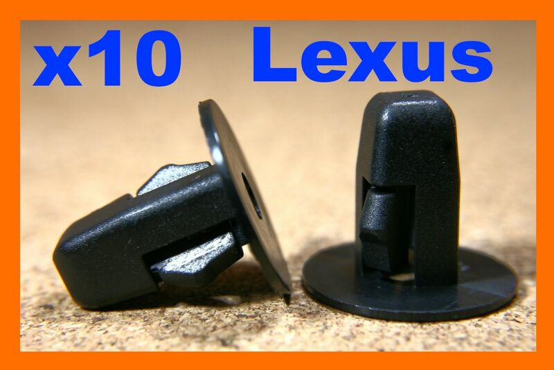 10 LEXUS black plastic nylon screw grommet M5 fitting fastener bumper fender