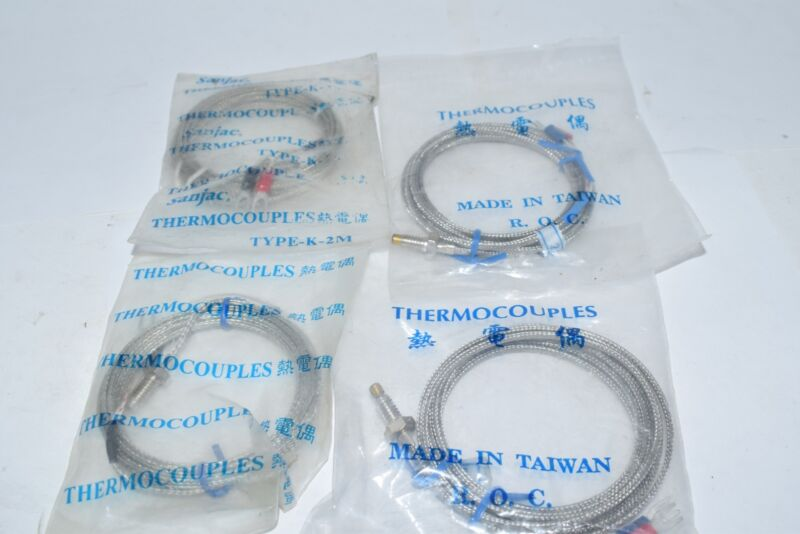 Lot of 4 NEW Thermocouples Sanjac K-2M