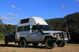 SET: Toyota LandCruiser TroopCarrier HighTop + Camper Trailer Perth Perth City Area Preview