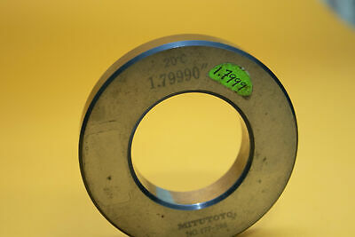 Mitutoyo 177-186 Setting Bore Gage Ring 1.79990