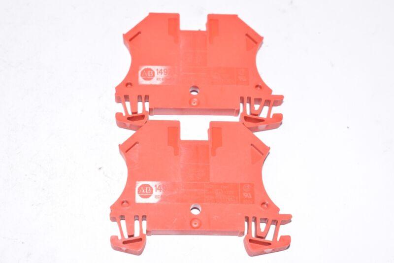 Lot of 2 NEW Allen Bradley 1492-J4 Terminal Blocks - Red