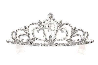 40th Birthday Tiara Crown (40th Birthday Party Rhinestone Crystal Crown Tiara)