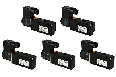 5x 12v Dc Solenoid Air Pneumatic Control Valve 3 Port 3 Way 2 Position 14 Npt