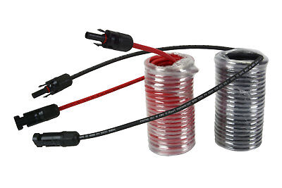 1 Pair 25 ft MC4 Solar Panel Extension Connector 10 AWG PV Cable Wire Blk/Red for sale  Fremont
