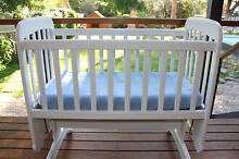 Childcare white wooden baby cradle Blackwood Mitcham Area Preview