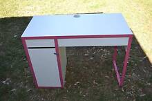 Ikea Micke Desk with 2 drawers and storage unit - White/Pink Bradbury Campbelltown Area Preview