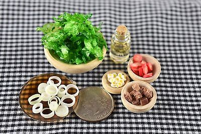 Handmade Salad Meal Miniature Food Dollhouse Accessories Barbie Doll 1:6 Scale