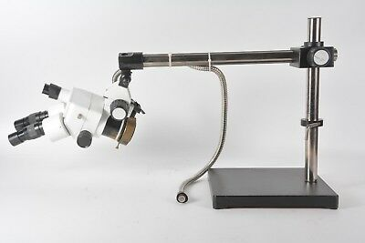 Scienscope Stereo Zoom Binocular Microscope With Boom Stand - Wfh10x Eyepieces