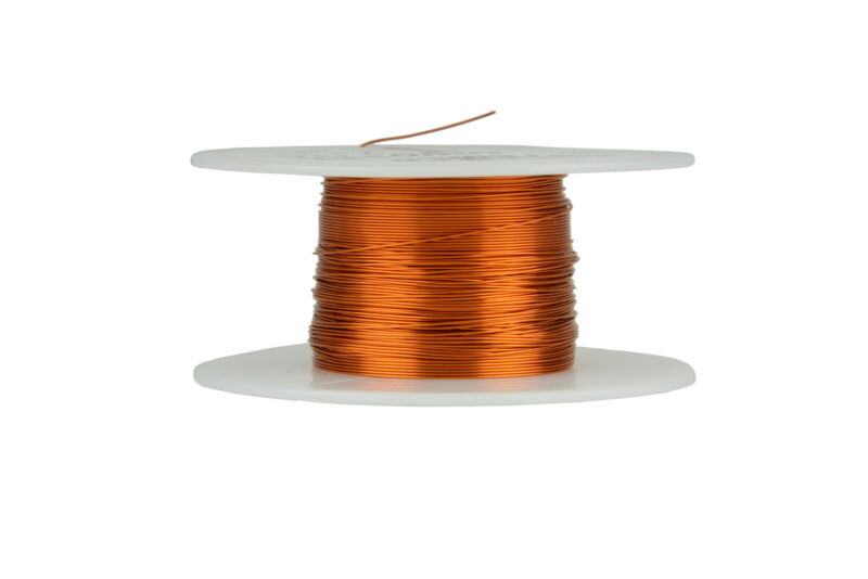 TEMCo Magnet Wire 27 AWG Gauge Enameled Copper 200C 2oz 196ft Coil Winding