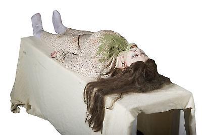 Lifesize Shaking Exorcist Possessed Girl Animated Halloween Haunted House Prop - Exorcist Girl Halloween Prop