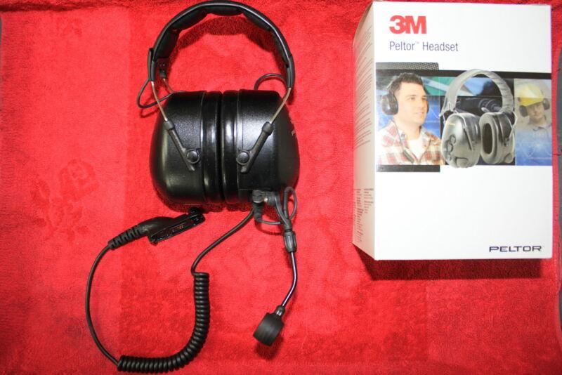 3M™ PELTOR™ Headset MT7H79A-C5063-34 Motorola APX TRBO XPR Radios #RMN5137A