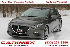 2015 Mazda Mazda3 GX ONLY 59K | Bluetooth | CERTIFIED