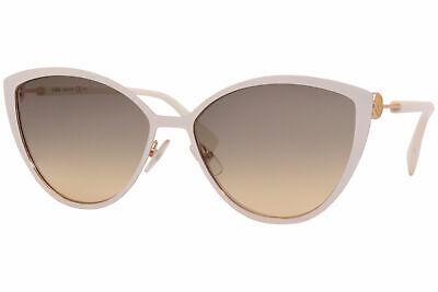 Fendi FF-0413/S IJSGA Sunglasses Women's Rose Gold-White/Grey-Brown Gradient