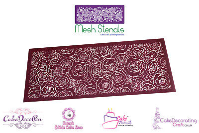 (Printing Mesh Stencil | Abstract Rose Cage | Cake Decorating Craft )