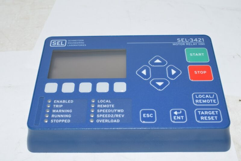 NEW SEL SCHWEITZER ENGINEERING SEL-3421 Motor Relay HMI with LCD