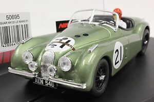NINCO 50695 JAGUAR XK120 LE MANS 1951 NEW 1/32 SLOT CAR IN DISPLAY CASE
