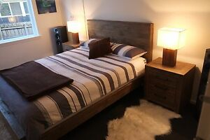 Superb Reclaimed Timber Style 4pc Bedroom Suite - NEW IN BOX Hawthorn Boroondara Area Preview