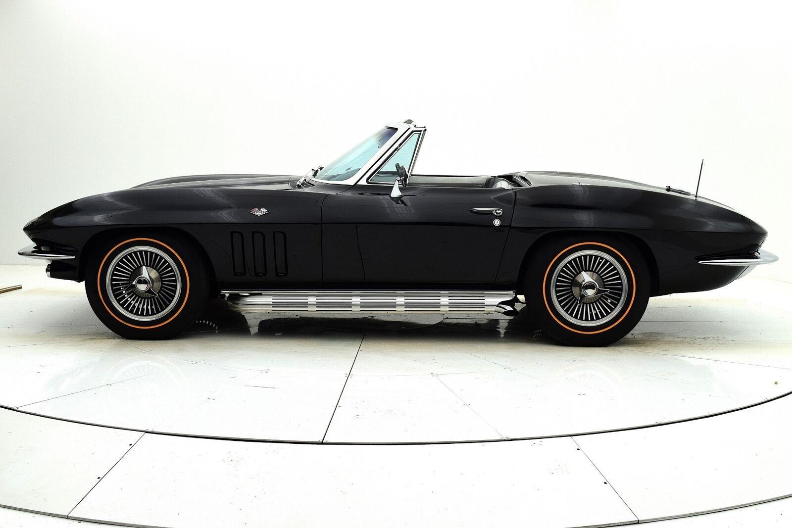1966 Black Chevrolet Corvette Convertible  | C2 Corvette Photo 3