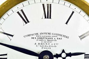 Altes Uhrwerk J. BRUNT & Cie. PARIS von Mutteruhr Hauptuhr Präzisions Uhr clock