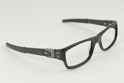 pre-owned Oakley 22-202 MUFFLER 53-18-135 Black Eye Glasses Prescription