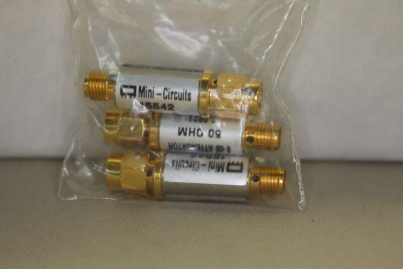 MINI CIRCUITS 50 OHM ATTENUATOR 15542 SMA CONNECT 8 dB Bag of 3