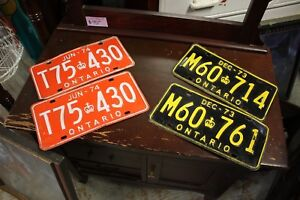 Vintage licence Plated $39 each pair $30
