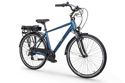 "Road City Electric Bike 19"" eBike EcoBike, Suspension, 250W , Pannier, E-Bike"
