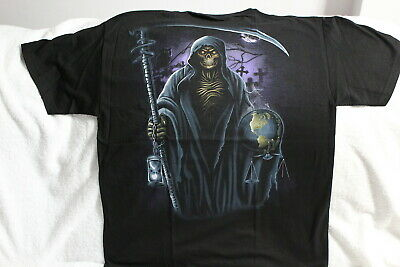 Grim Reaper Scythe (GRIM REAPER SCYTHE HOURGLASS GRAVEYARD OWL GLOBE)