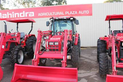 MAHINDRA 8560 CAB 4WD inc LOADER AND GP BUCKET