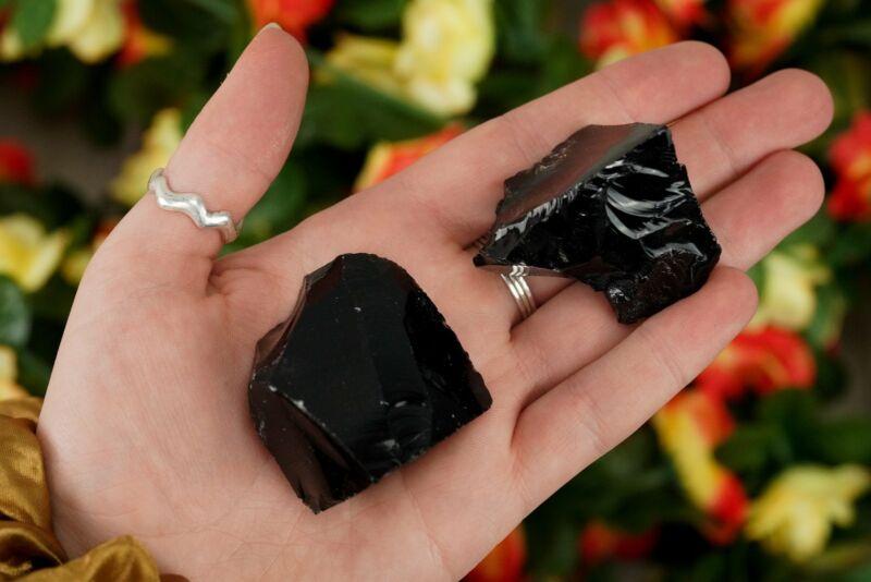 Large Raw Black Obsidian Rough Crystal