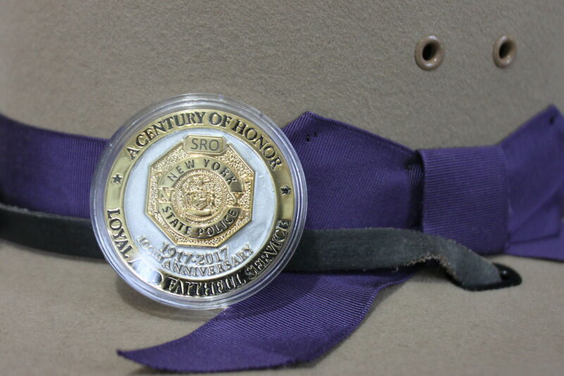 New York State Police 100th Anniversary Challenge Coin unit SRO