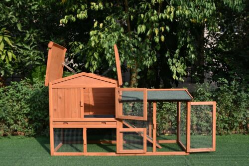 GiantWood Wooden Rabbit&Chicken&Small Pets Hutch and Coop