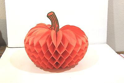 1930 Halloween Decorations (2 Halloween Pumpkin Honeycomb Tissue Paper Decorations)