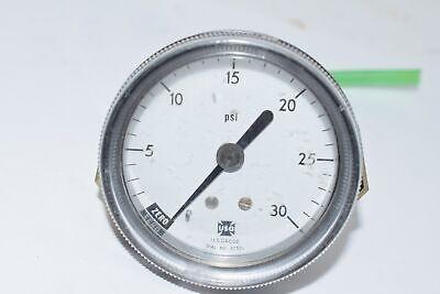 Usg 0-30 Psi 2-12 Pressure Gauge Npt Back Fitting